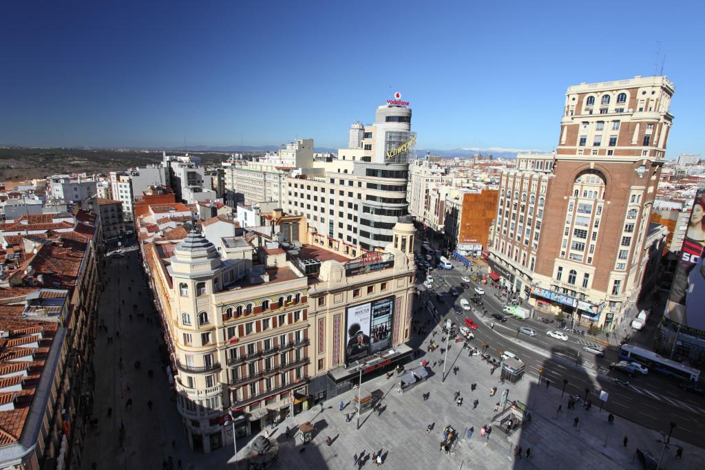 Madrid. Plaza de Callao y la Gran Vía